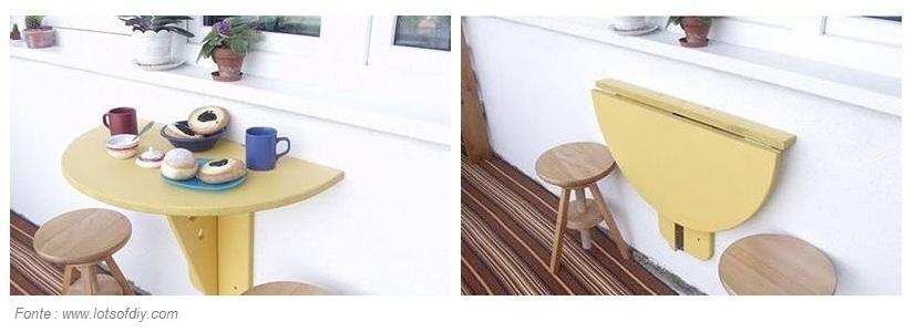 Come costruire un tavolino ribaltabile da parete